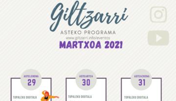 Lunes 29: EZAGUTU ANDREA GUTIERREZ Martes 30: BITXIKERIAK Miercoles 31: ASTEKO ABESTIA