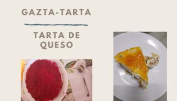 portada con imágenes de una tarta de queso